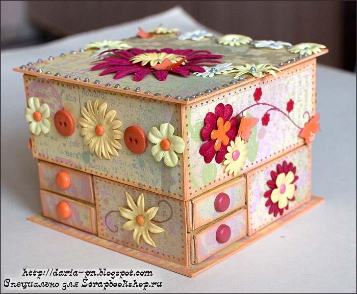 Шкатулка из спичечных коробок